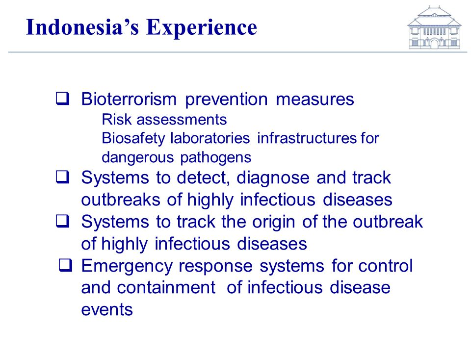 Indonesia's Experience