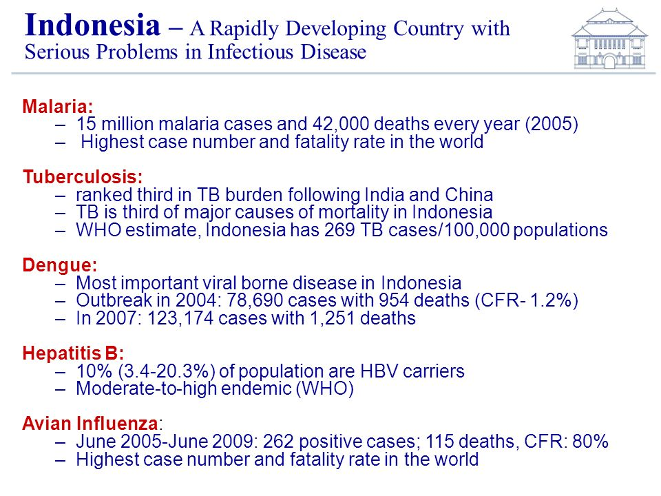 Indonesia – A Rapidly Developing Country with Serious Problems in Infectious Disease