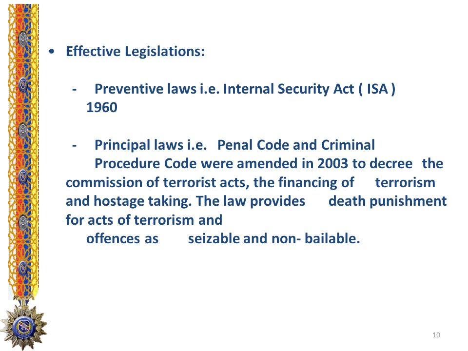 Effective Legislations: