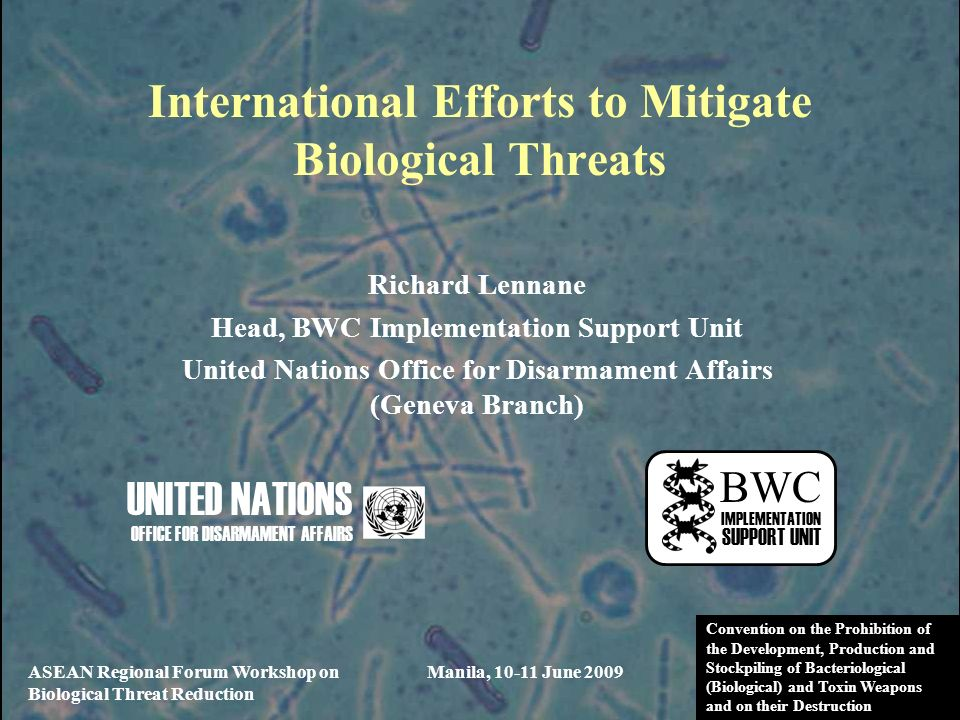 International Efforts to Mitigate Biological Threats