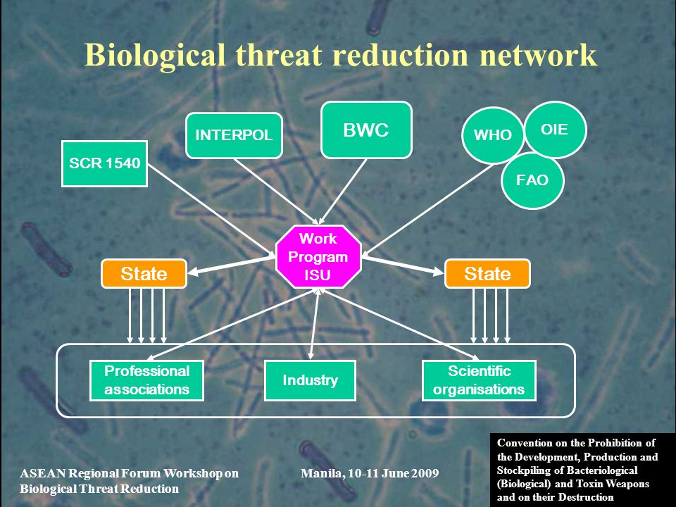 Biological threat reduction network