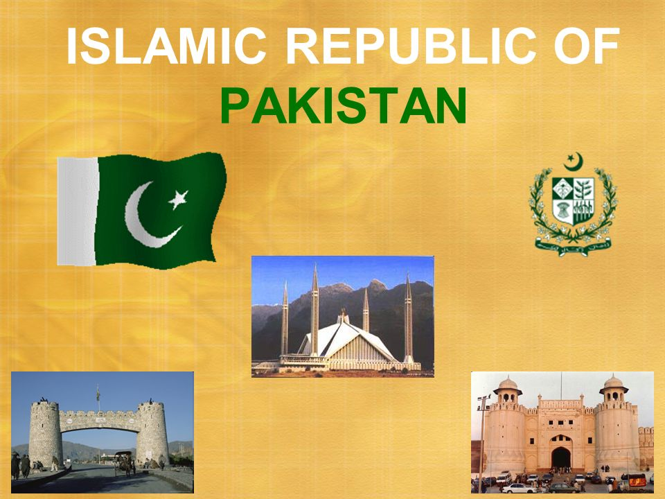 ISLAMIC REPUBLIC OF PAKISTAN