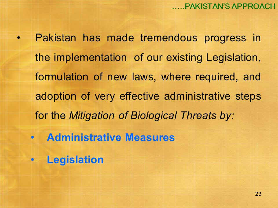 Administrative Measures Legislation