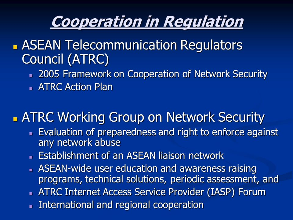 Cooperation in Regulation