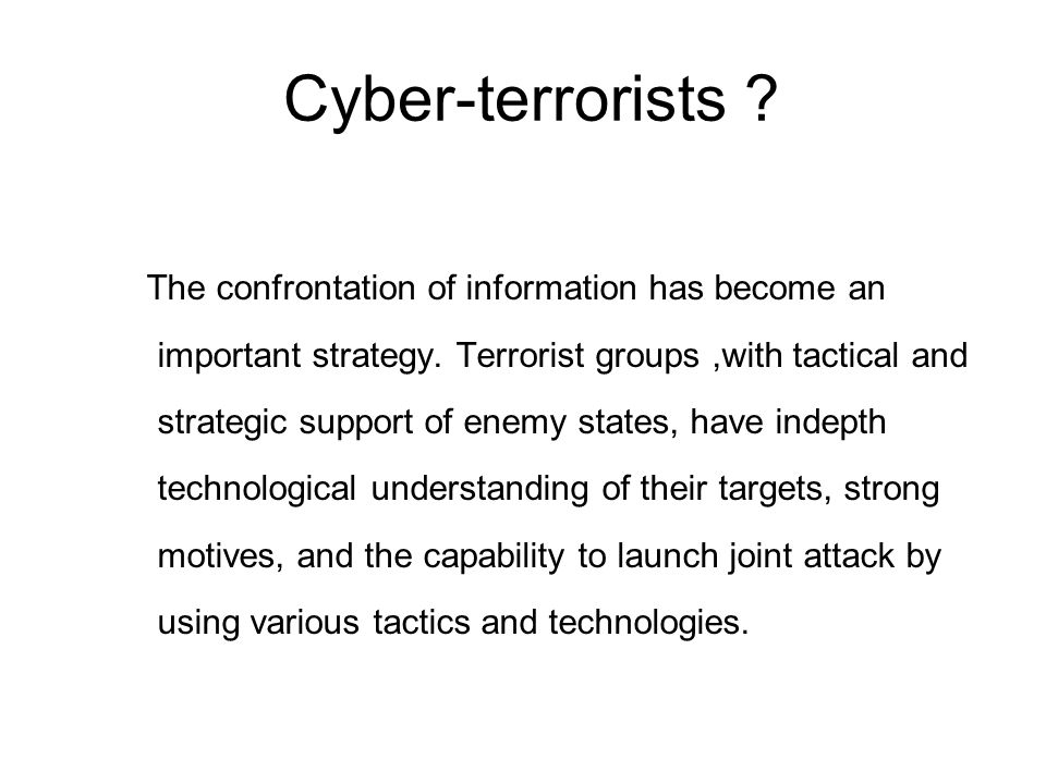 Cyber-terrorists