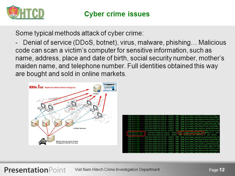 Cyber crime issues Some typical methods attack of cyber crime: