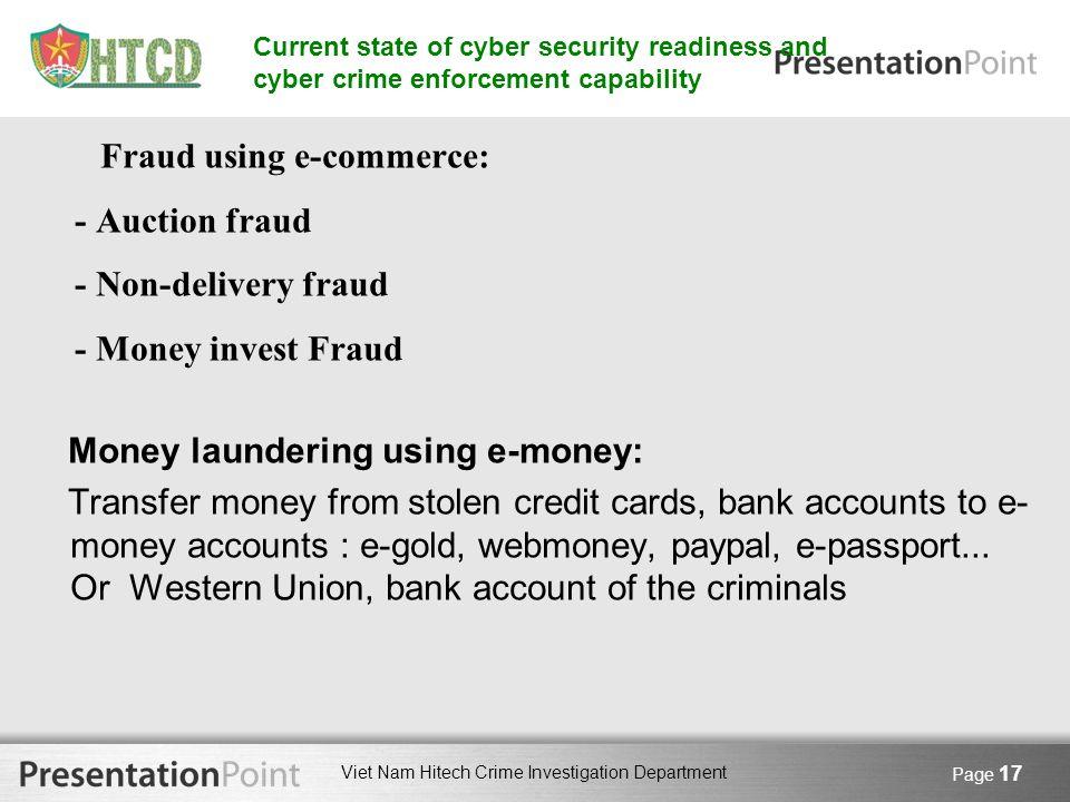Money laundering using e-money:
