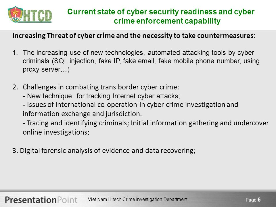 Challenges in combating trans border cyber crime: