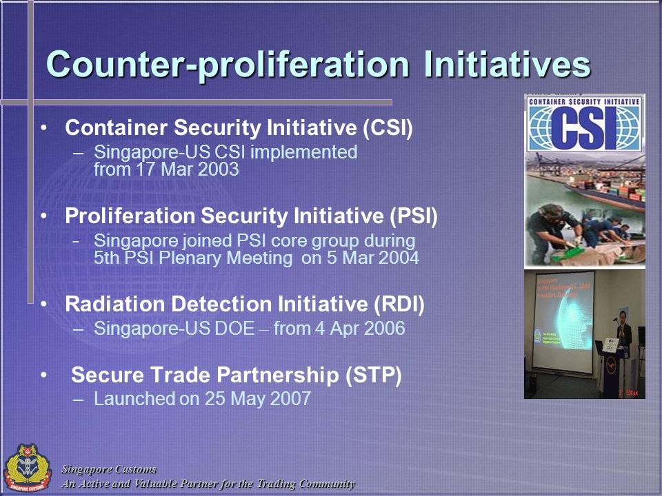 Counter-proliferation Initiatives