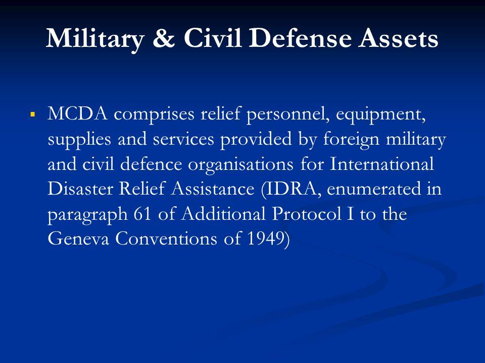 Military & Civil Defense Assets