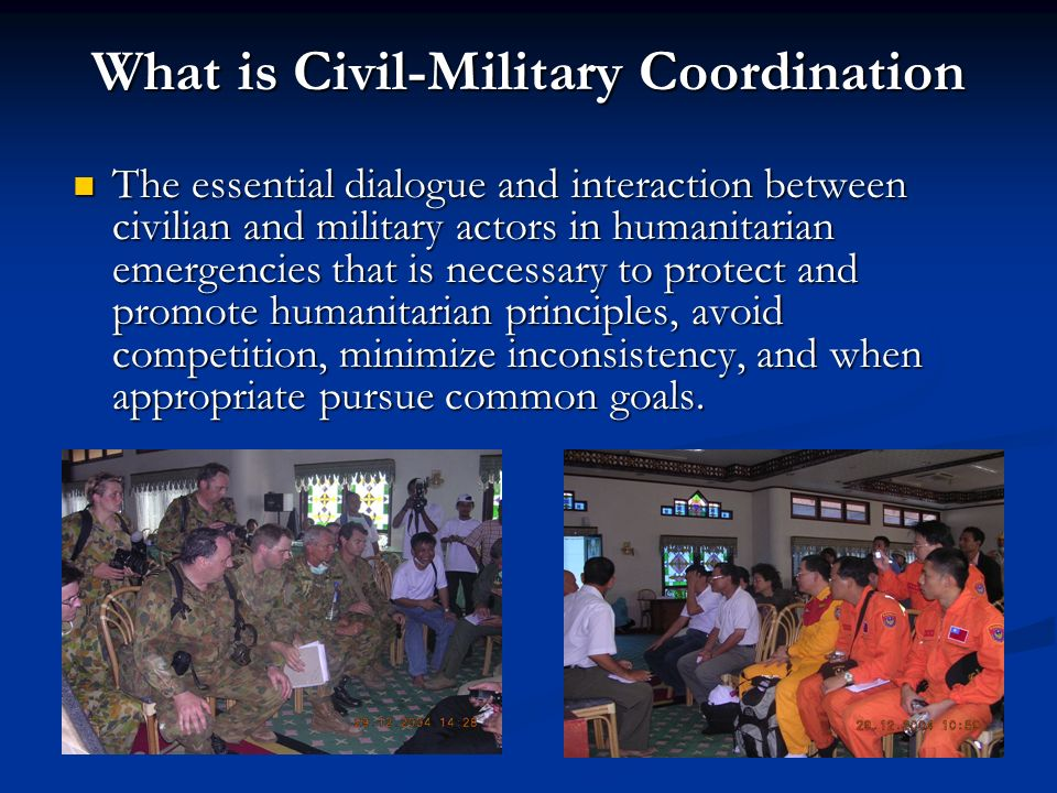 What is Civil-Military Coordination