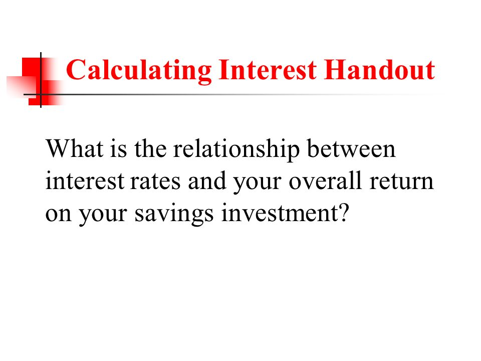 Investment Calculations