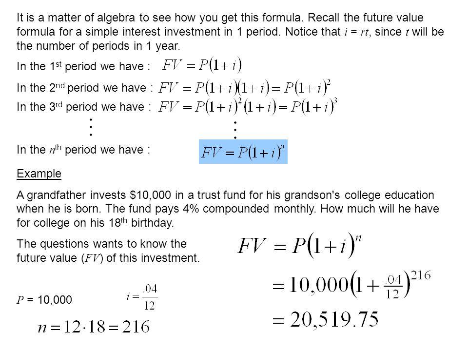 investment formula
