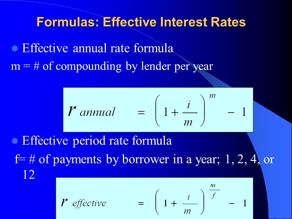 how to find effective annual interest rate