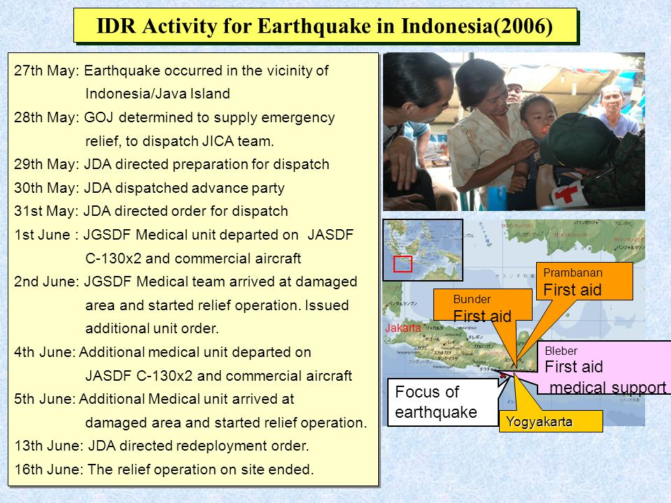 IDR Activity for Earthquake in Indonesia(2006)