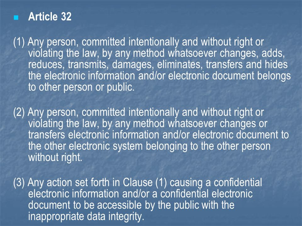 Article 32