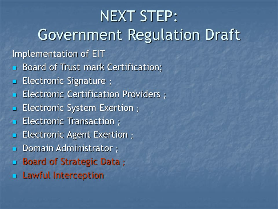 Government Regulation Draft