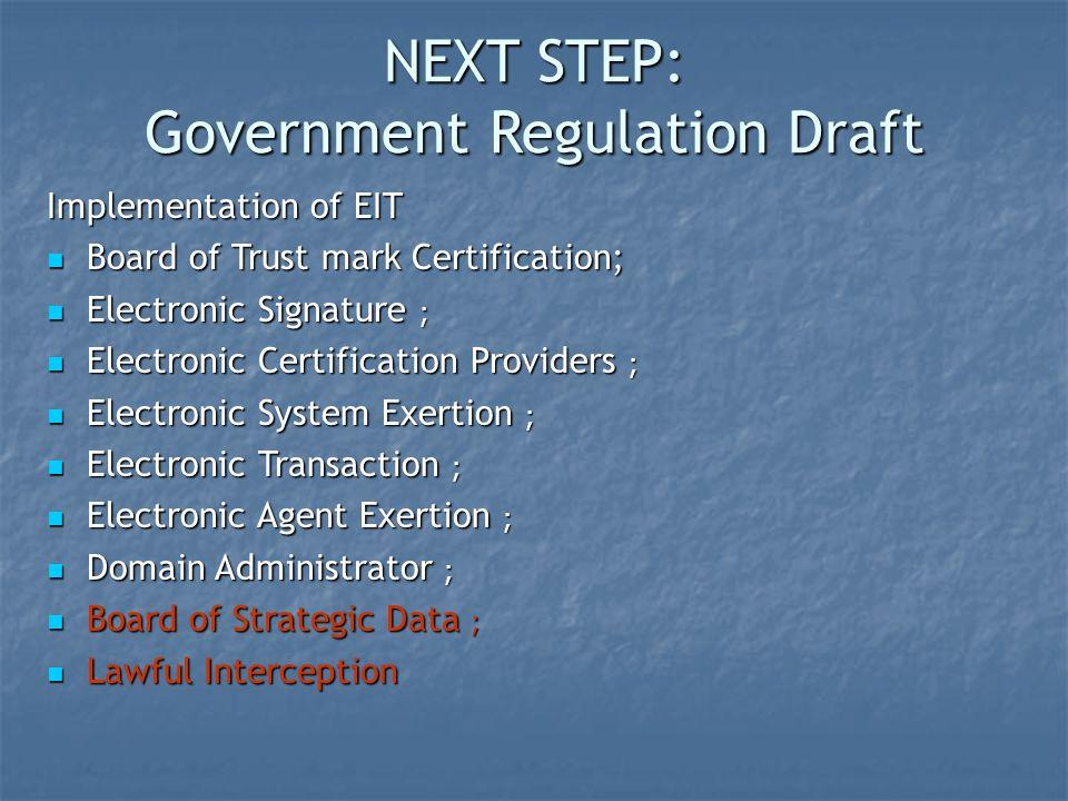 Government Regulation Draft