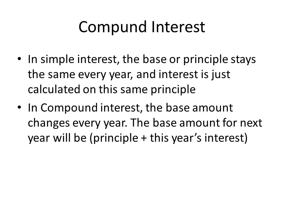 Calculating Simple interest and compound interest ppt download – Simple and Compound Interest Worksheet