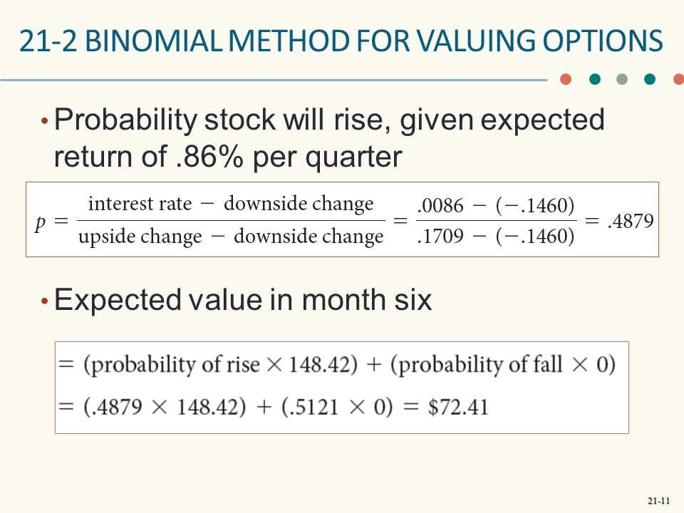 how to calculate return on stocks using probability