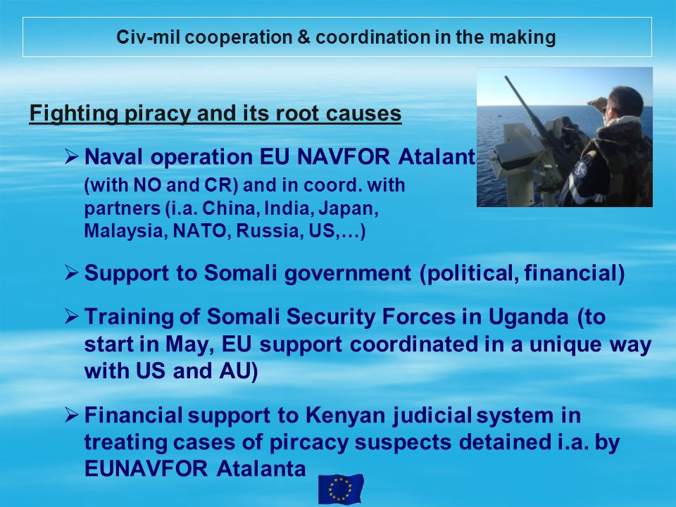 Civ-mil cooperation & coordination in the making