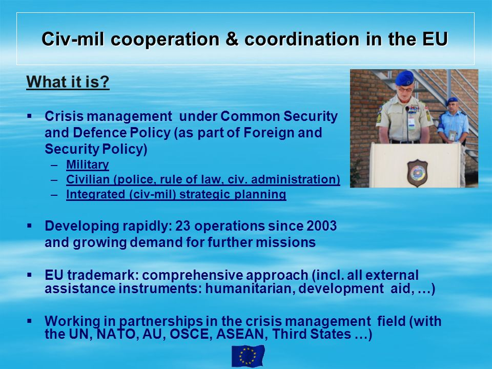 Civ-mil cooperation & coordination in the EU