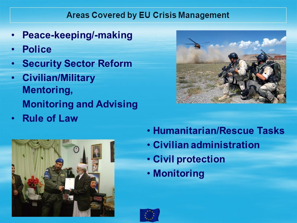 Areas Covered by EU Crisis Management
