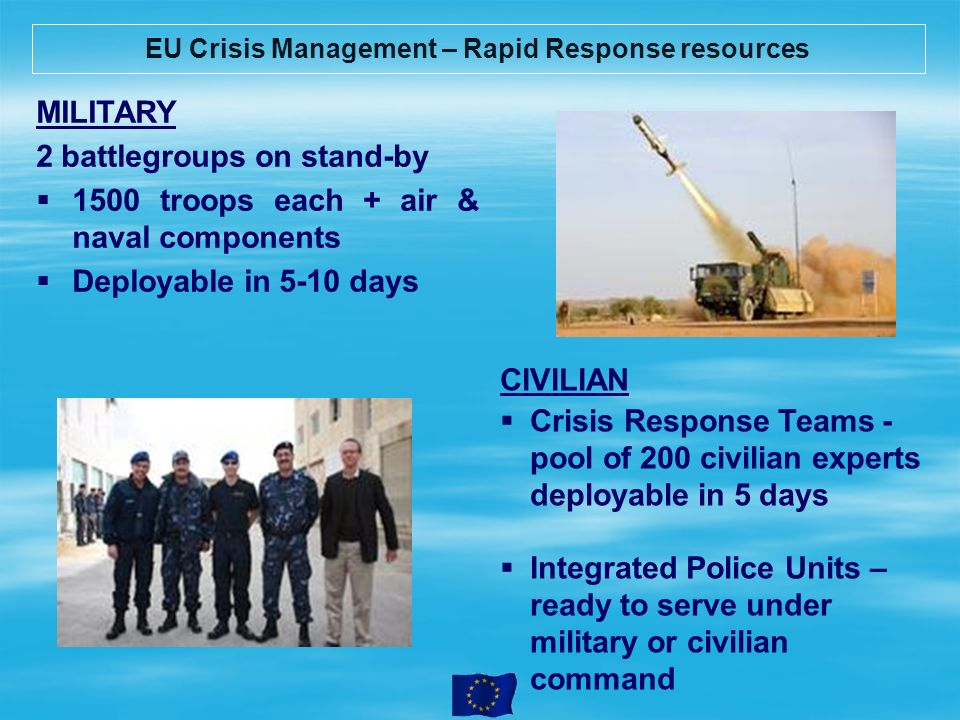EU Crisis Management – Rapid Response resources