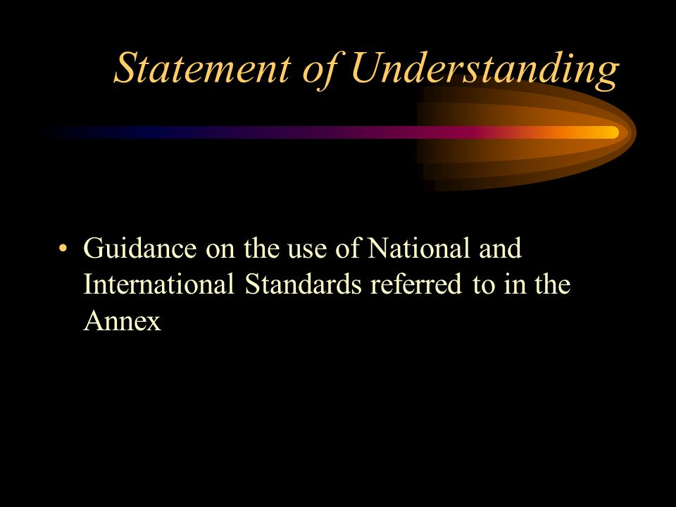Statement of Understanding