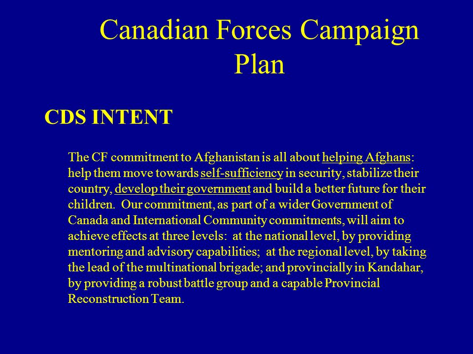 Canadian Forces Campaign Plan