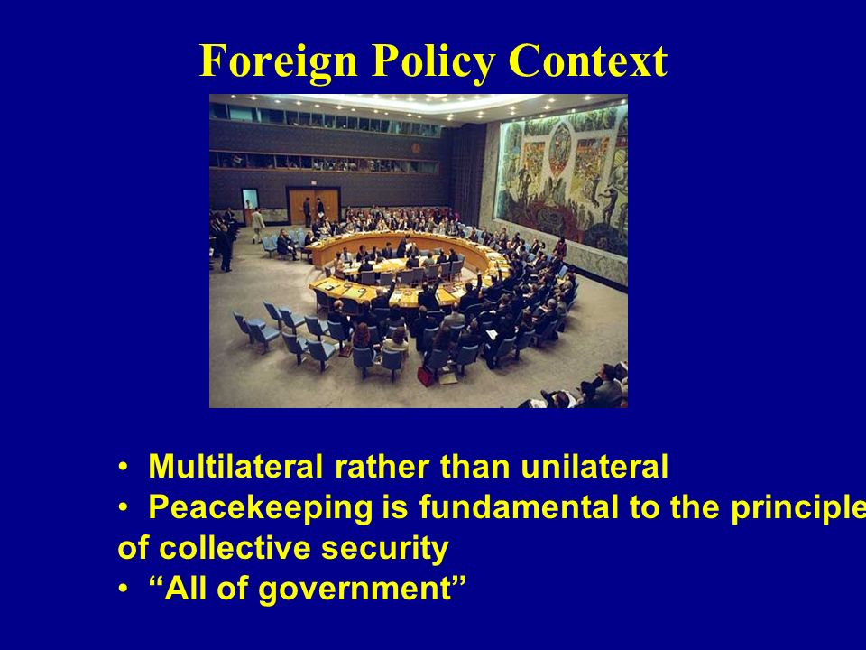 Foreign Policy Context