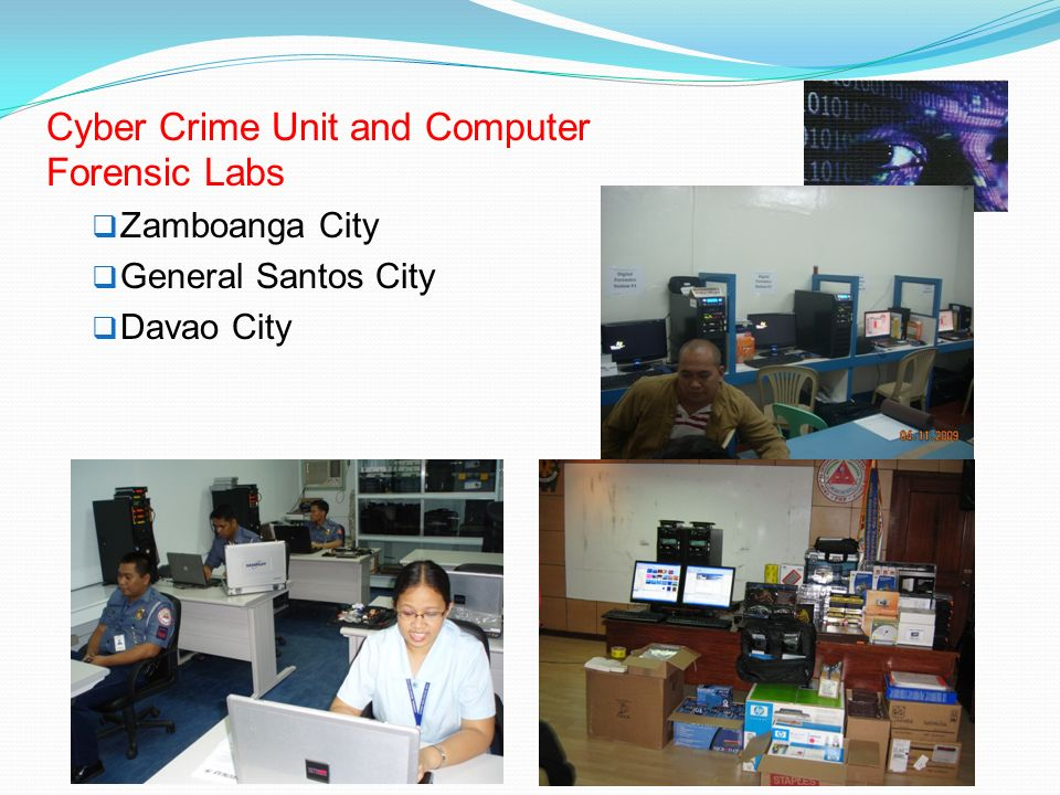 Cyber Crime Unit and Computer Forensic Labs
