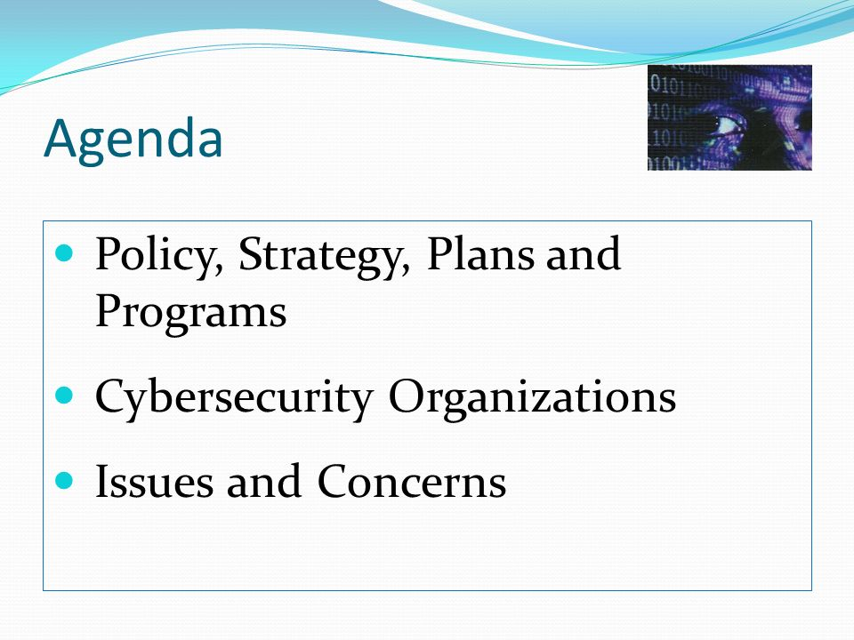 Agenda Policy, Strategy, Plans and Programs