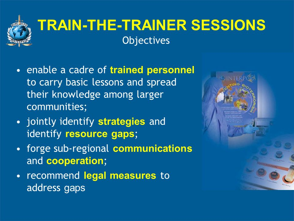 TRAIN-THE-TRAINER SESSIONS