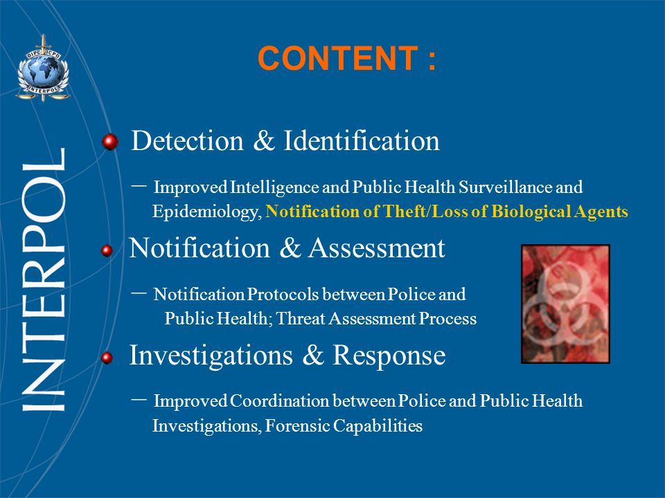 CONTENT : Detection & Identification