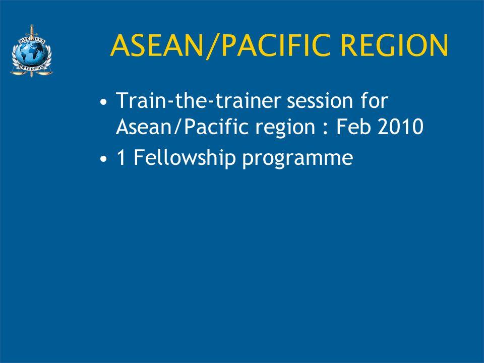 ASEAN/PACIFIC REGION Train-the-trainer session for Asean/Pacific region : Feb 2010.