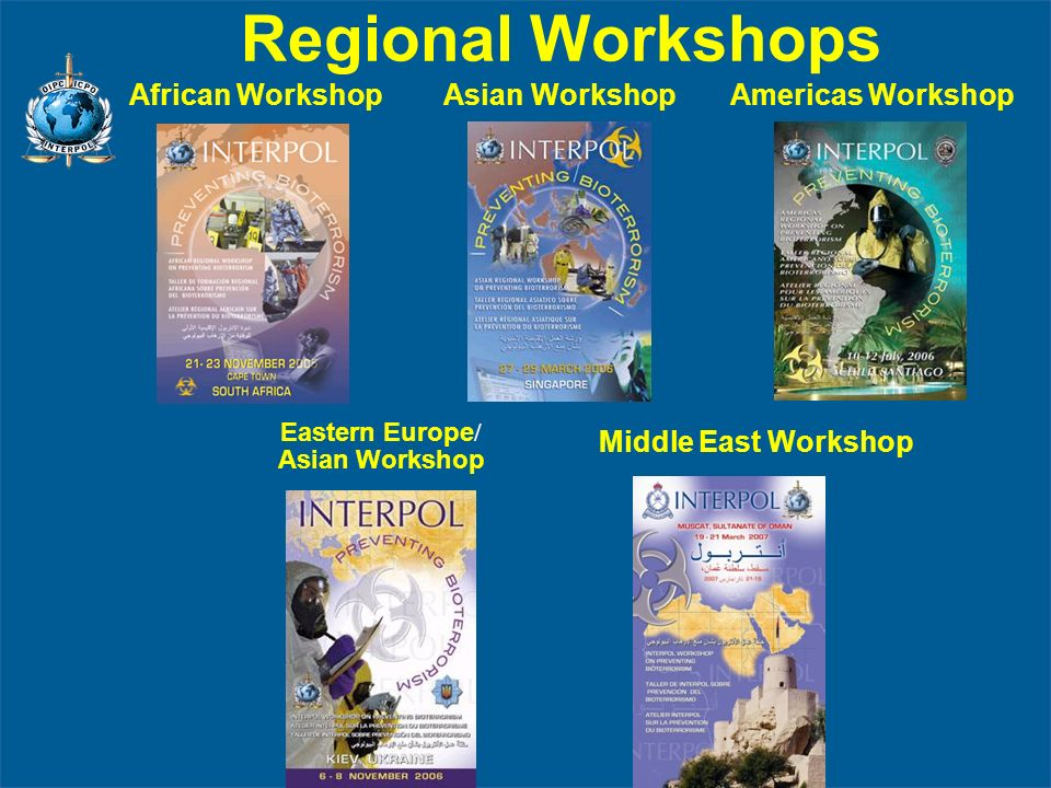 Regional Workshops African Workshop Asian Workshop Americas Workshop