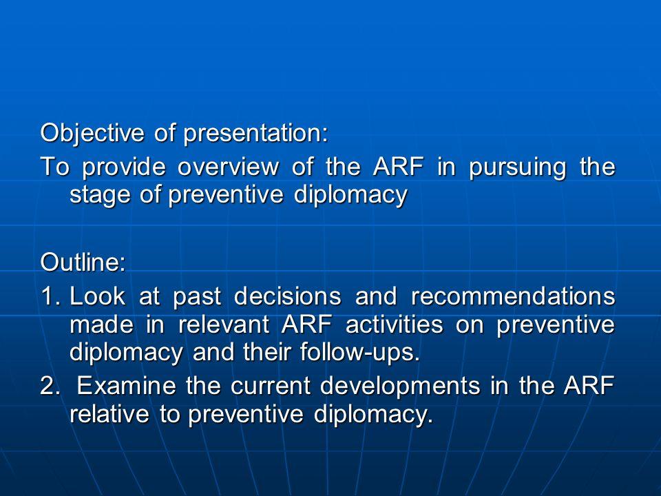 Objective of presentation: