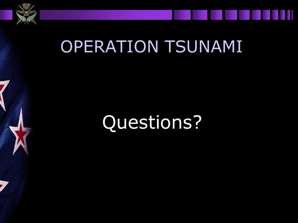 OPERATION TSUNAMI Questions