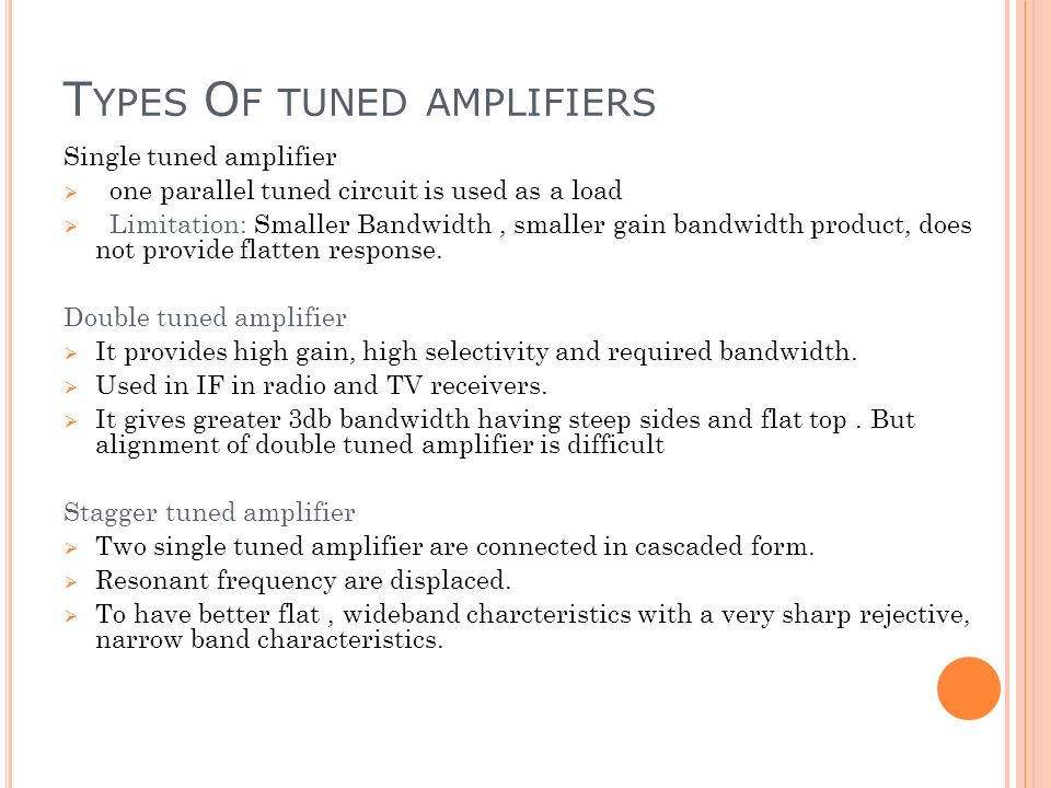 tuned amplifiers 2012-6-21 10 jan/feb 2001 power) if changed to class e (35%/15% = 23) class-e amplifiers can be de-signed for narrow-band operation or for fixed-tuned operation over fre.