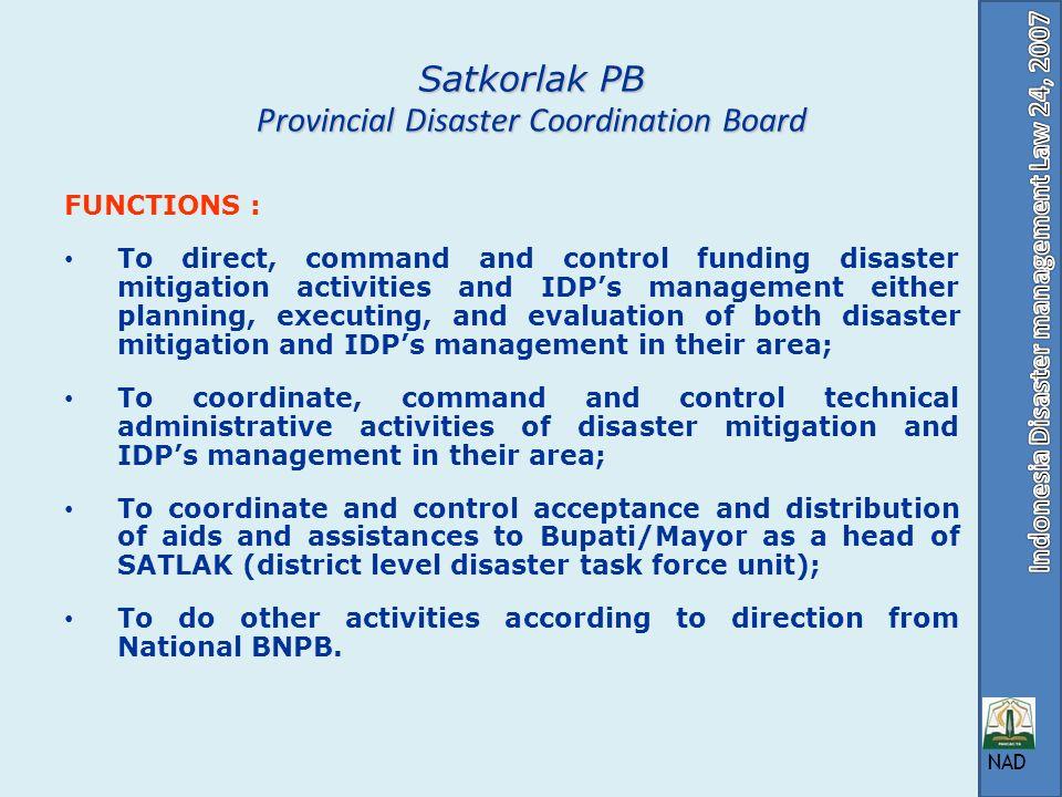 Satkorlak PB Provincial Disaster Coordination Board