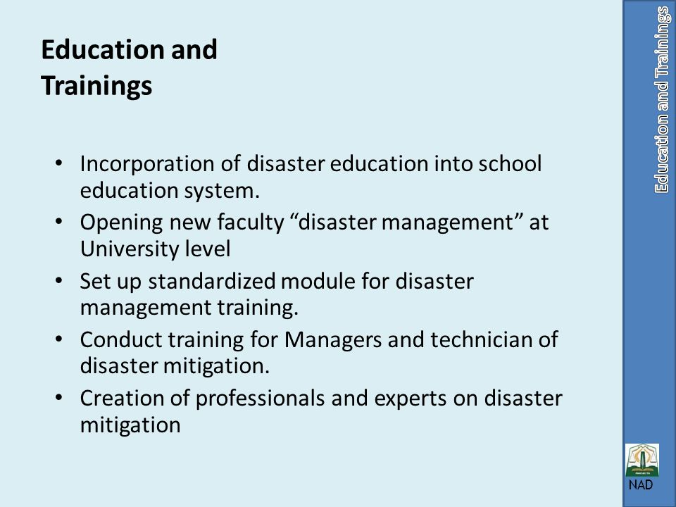 Education and Trainings