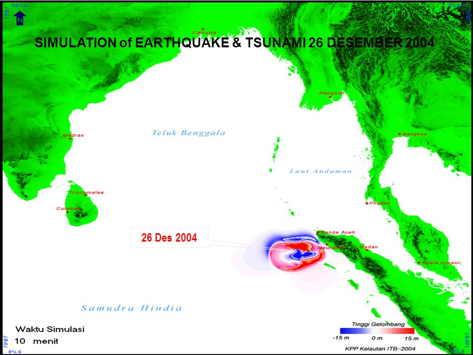 SIMULATION of EARTHQUAKE & TSUNAMI 26 DESEMBER 2004