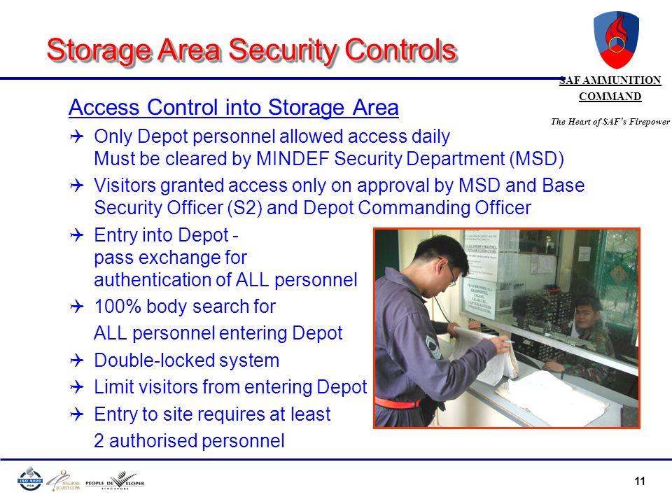 Storage Area Security Controls