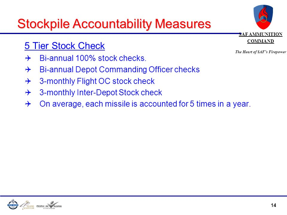 Stockpile Accountability Measures