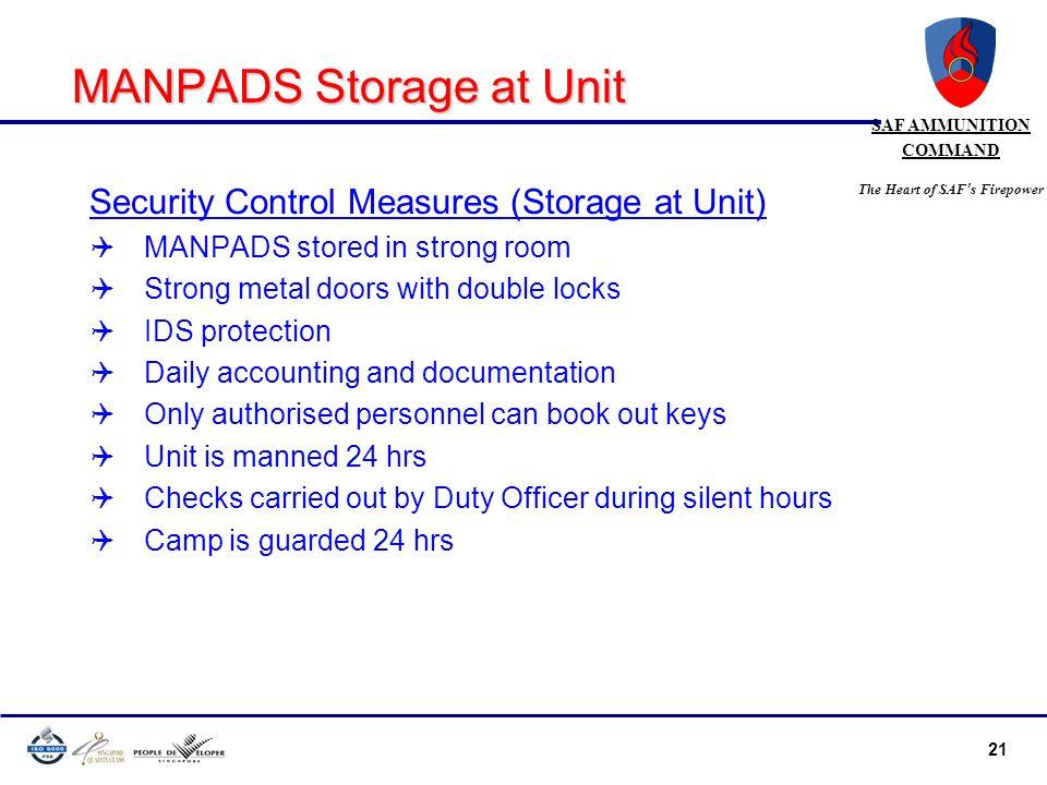 MANPADS Storage at Unit