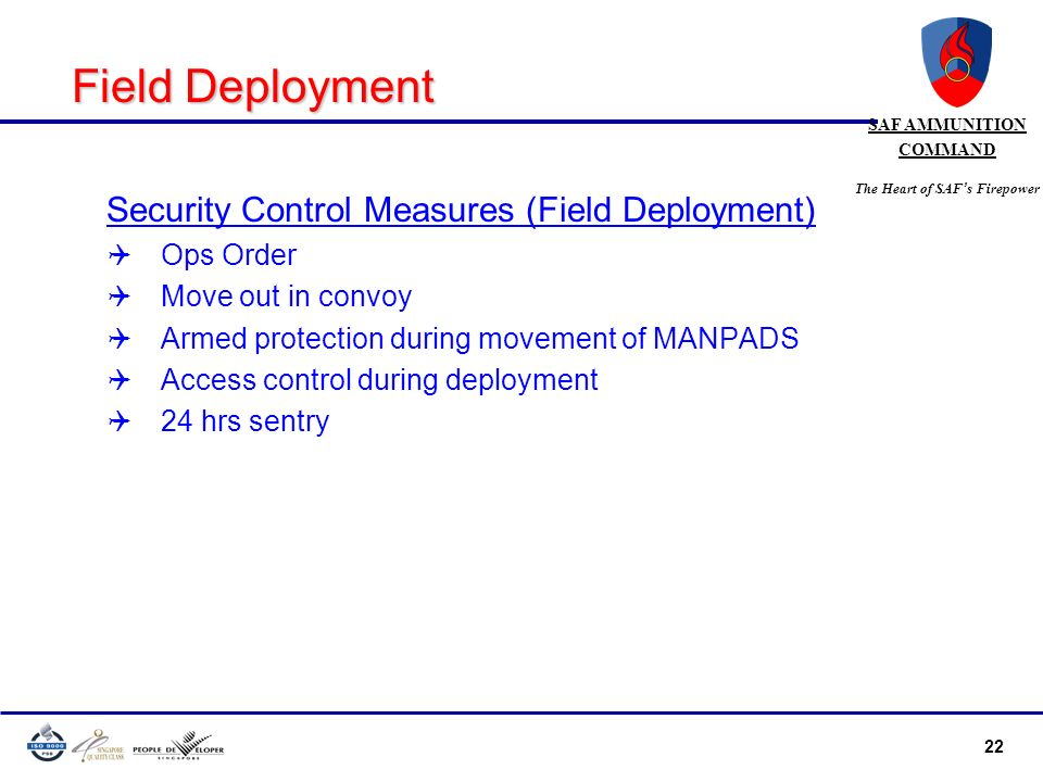 Field Deployment Security Control Measures (Field Deployment)