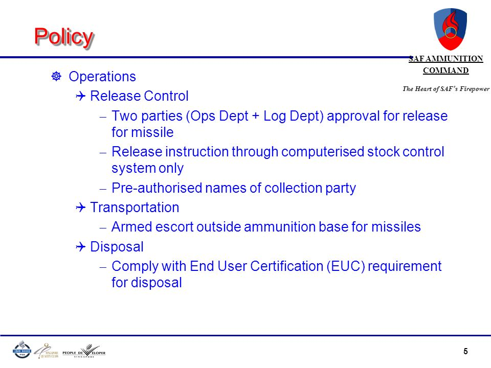 Policy Operations Release Control