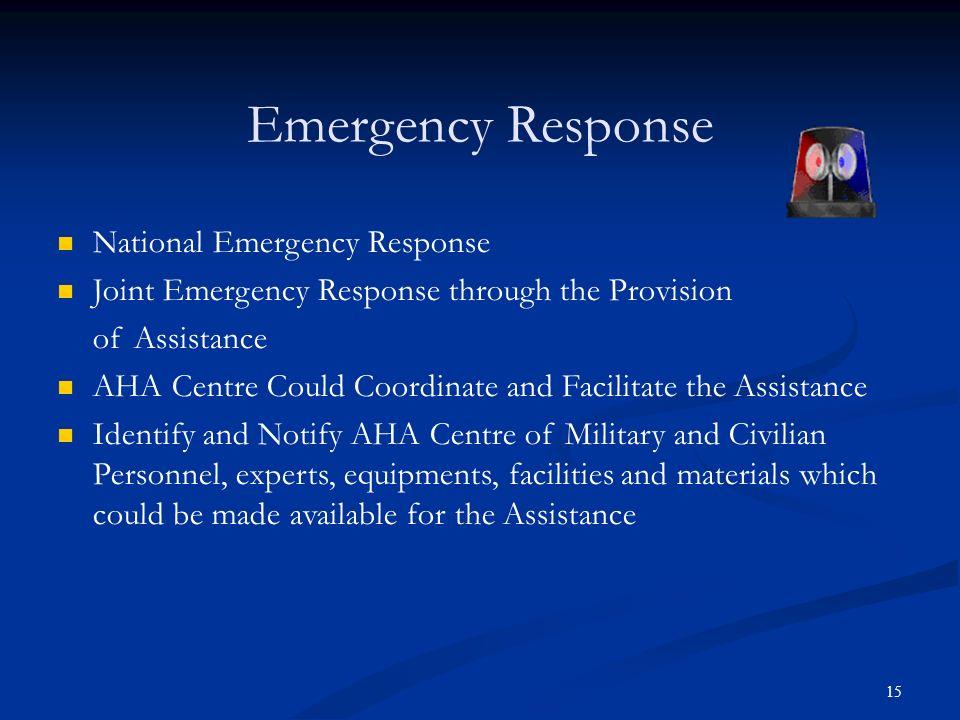 Emergency Response National Emergency Response