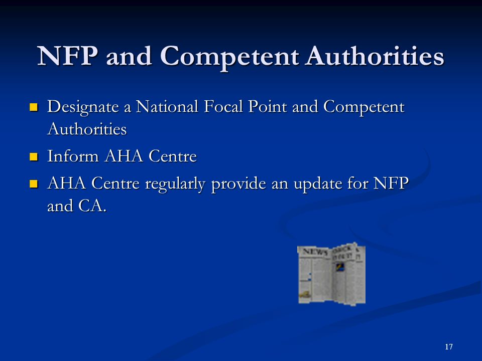 NFP and Competent Authorities